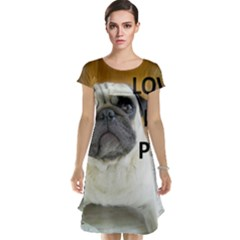 Pug Love W Picture Cap Sleeve Nightdress