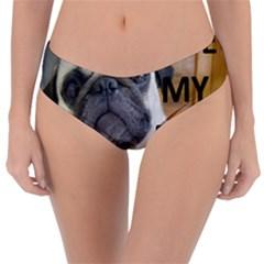 Pug Love W Picture Reversible Classic Bikini Bottoms