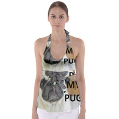 Pug Love W Picture Babydoll Tankini Top