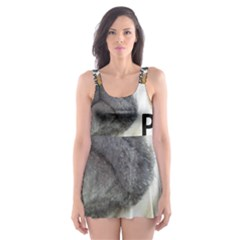 Pug Love W Picture Skater Dress Swimsuit