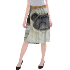 Pug Love W Picture Midi Beach Skirt