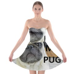 Pug Love W Picture Strapless Bra Top Dress