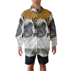 Pug Love W Picture Wind Breaker (Kids)