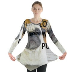 Pug Love W Picture Long Sleeve Tunic