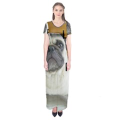 Pug Love W Picture Short Sleeve Maxi Dress