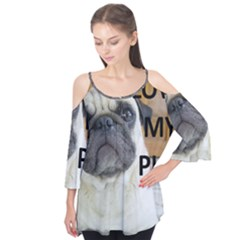 Pug Love W Picture Flutter Tees