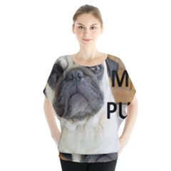 Pug Love W Picture Blouse