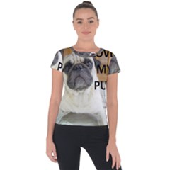 Pug Love W Picture Short Sleeve Sports Top