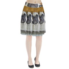 Pug Love W Picture Pleated Skirt