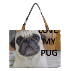 Pug Love W Picture Medium Tote Bag