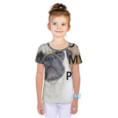 Pug Love W Picture Kids  One Piece Tee