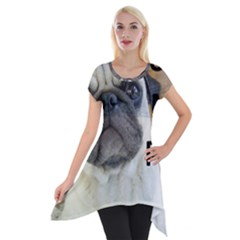 Pug Love W Picture Short Sleeve Side Drop Tunic