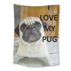 Pug Love W Picture Medium Tapestry