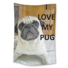 Pug Love W Picture Large Tapestry
