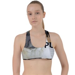 Pug Love W Picture Criss Cross Racerback Sports Bra