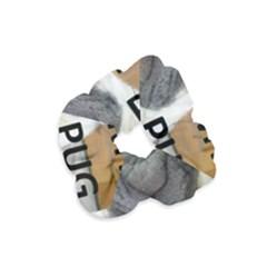 Pug Love W Picture Velvet Scrunchie