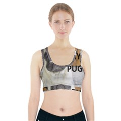 Pug Love W Picture Sports Bra With Pocket