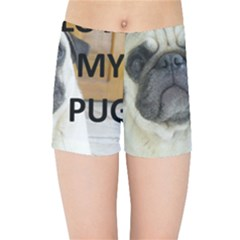 Pug Love W Picture Kids Sports Shorts