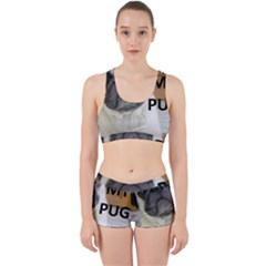 Pug Love W Picture Work It Out Sports Bra Set