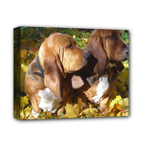 2 Bassets Deluxe Canvas 14  x 11