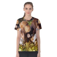 2 Bassets Women s Cotton Tee