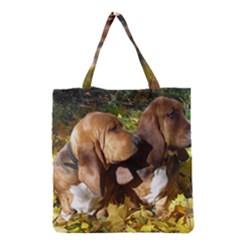 2 Bassets Grocery Tote Bag
