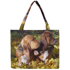 2 Bassets Mini Tote Bag