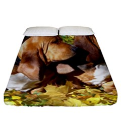 2 Bassets Fitted Sheet (California King Size)