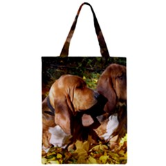 2 Bassets Zipper Classic Tote Bag