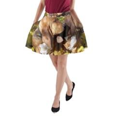2 Bassets A-Line Pocket Skirt