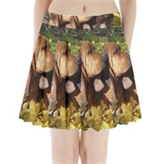 2 Bassets Pleated Mini Skirt