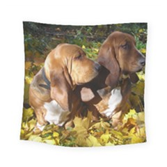2 Bassets Square Tapestry (Small)