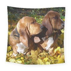 2 Bassets Square Tapestry (Large)