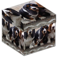 3 Basset Hound Puppies Storage Stool 12