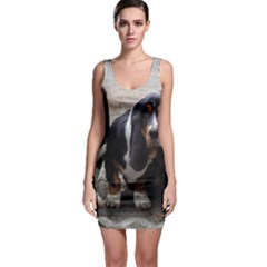 3 Basset Hound Puppies Bodycon Dress