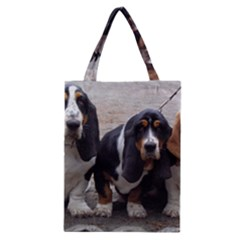 3 Basset Hound Puppies Classic Tote Bag