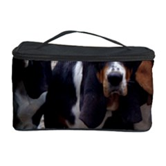 3 Basset Hound Puppies Cosmetic Storage Case