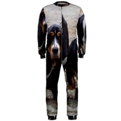 3 Basset Hound Puppies OnePiece Jumpsuit (Men)