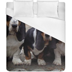 3 Basset Hound Puppies Duvet Cover (California King Size)