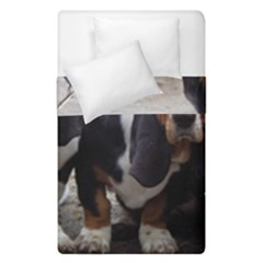 3 Basset Hound Puppies Duvet Cover Double Side (Single Size)