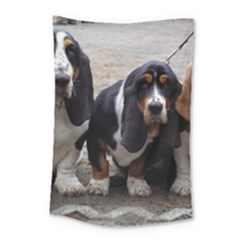 3 Basset Hound Puppies Small Tapestry