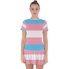 Trans Pride Drop Hem Mini Chiffon Dress