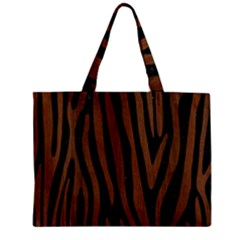 Skn4 Bk Mrbl Br Wood (r) Zipper Mini Tote Bag