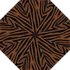 Skin4 Black Marble & Brown Wood Hook Handle Umbrella (large)