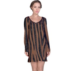 SKN4 BK-MRBL BR-WOOD Long Sleeve Nightdress