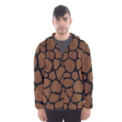 SKN1 BK-MRBL BR-WOOD Hooded Wind Breaker (Men)