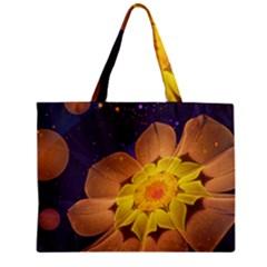 Beautiful Violet & Peach Primrose Fractal Flowers Mini Tote Bag