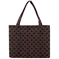Sca2 Bk Mrbl Br Wood Mini Tote Bag