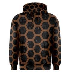 Hxg2 Bk Mrbl Br Wood Men s Pullover Hoodie