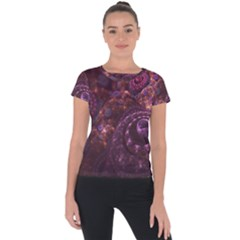 Buried Pirate Treasure Of Fractal Pearls And Coins Short Sleeve Sports Top